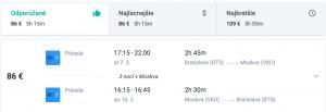Letenky do Moskvy